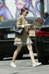 Lily Collins at Mind & Body Acupuncture in LA 05/17/2019