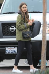 Lily Collins at Starbucks in West Hollywood 05/14/2019