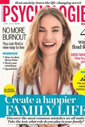 Lily James - Psychologies Magazine June 2019 Cover and Photo