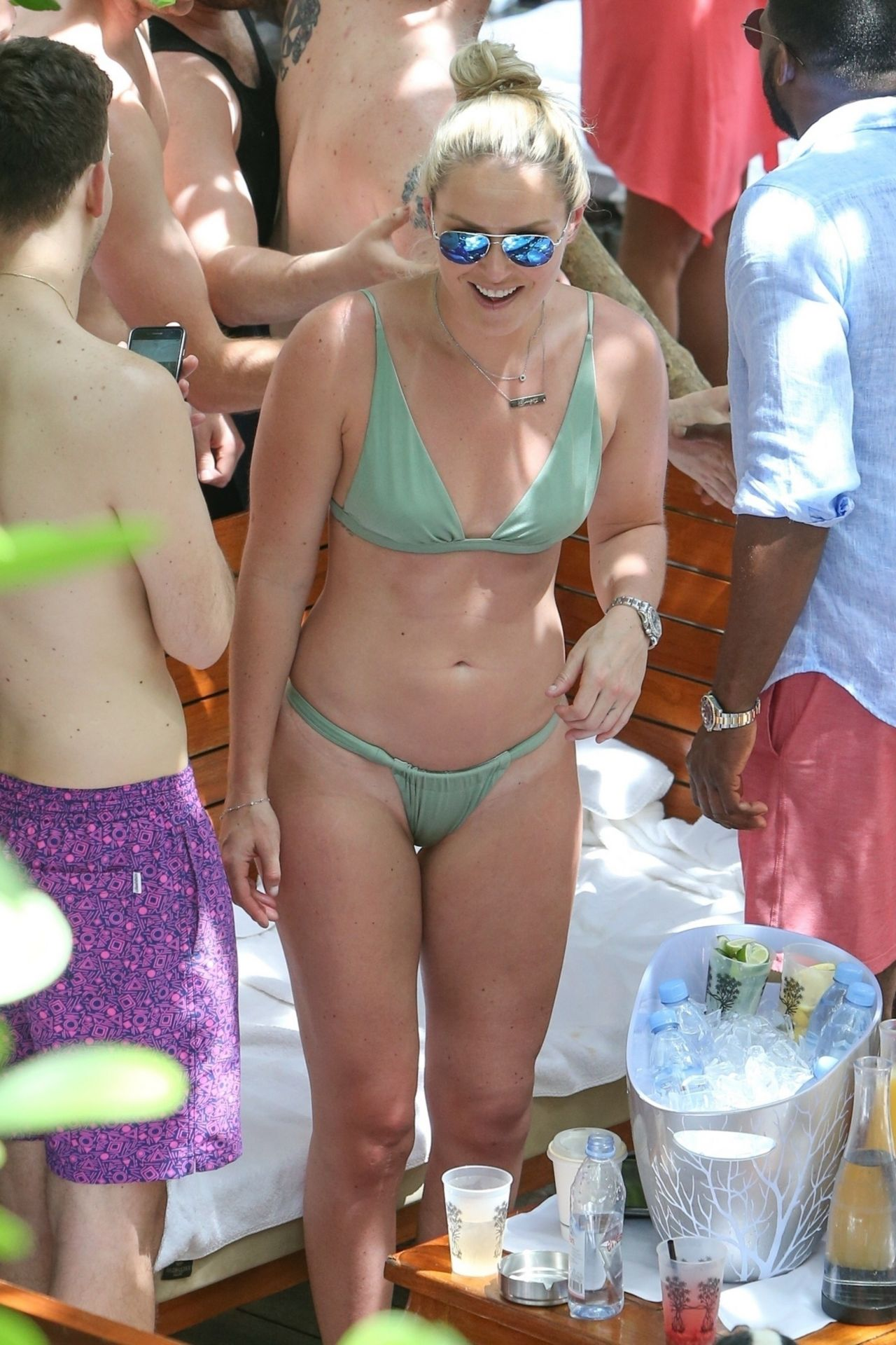 Lindsey Vonn In Green Bikini At Pool Party In Miami 05052019-4876