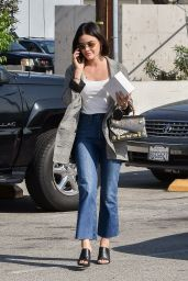 Lucy Hale on the Phone in Studio City 05/14/2019