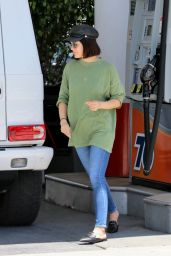 Lucy Hale - Pumping Gas in LA 05/30/2019