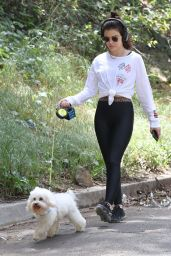 Lucy Hale - Walking Her Dog in Los Angele 05/01/2019