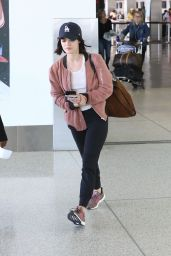 Lucy Halein Travel Outfit at LAX in LA 05/29/2019