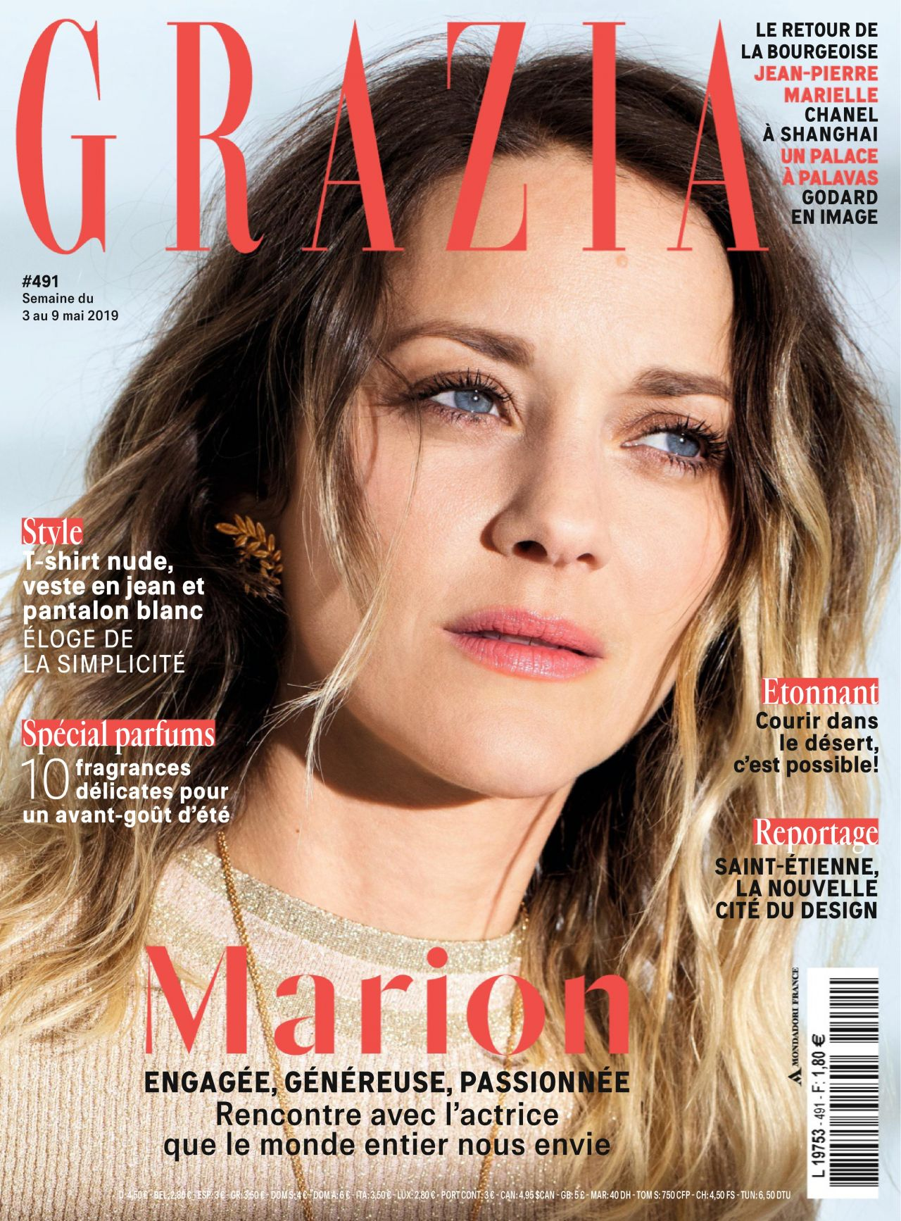 Marion Cotillard Grazia Magazine France May 2019 Issue