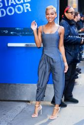 Meagan Good - Arriving at GMA in NYC 04/29/2019