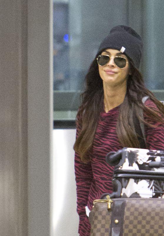 Megan Fox - Arrives in...