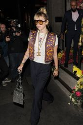 Miley Cyrus Night Out Style - Gymkhana in London 05/28/2019
