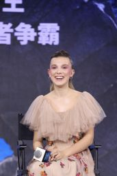 """Millie Bobby Brown - """"Godzilla: King of the Monsters"""" Press Conference in Beijing"""