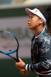 Naomi Osaka – Practises During the Roland Garros in Paris 05/24/2019