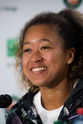 Naomi Osaka – Talks to the Press Ahead of the Roland Garros in Paris 05/24/2019