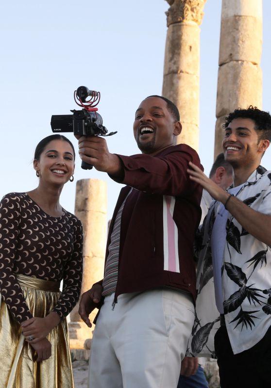 Naomi Scott, Will Smith and Mena Massoud - Visiting the Amman Citadel in Jordan 05/13/2019