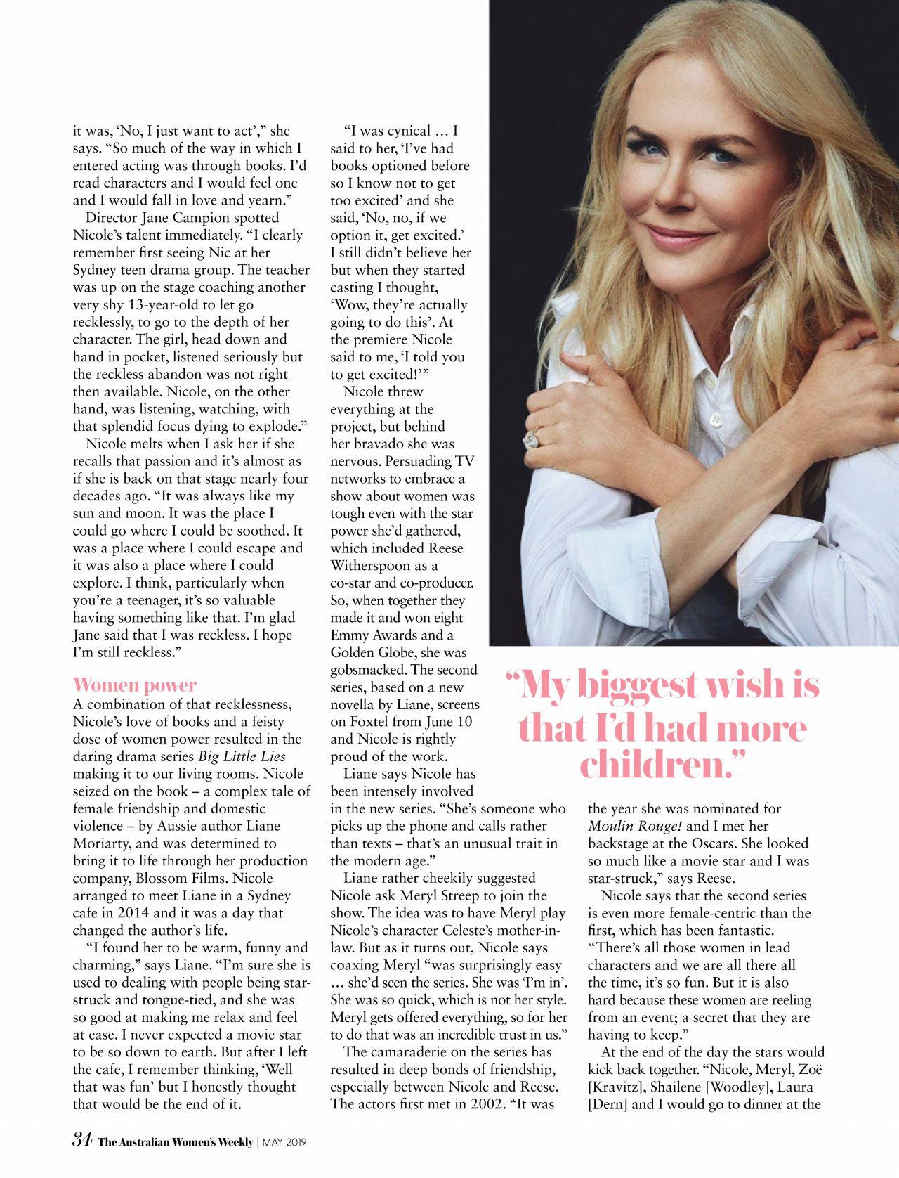 Nicole Kidman The Australian Women S Weekly Magazine May 2019 Issue