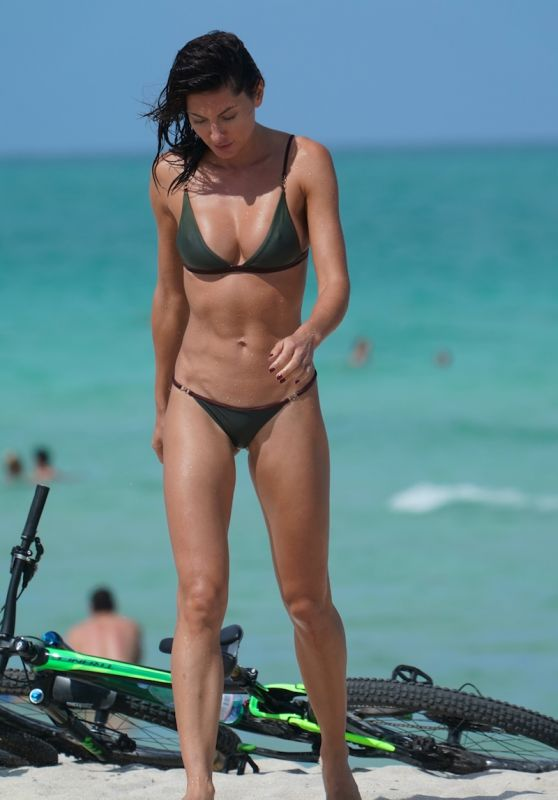 Oksana Rykova in a Green Bikini, May 2019