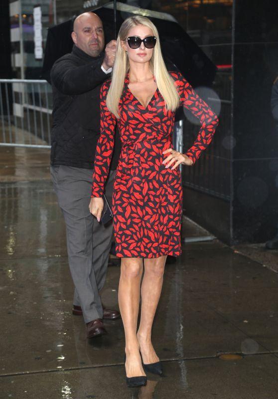 Paris Hilton - Arriving at Good Morning America in New York 05/13/2019
