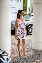 Penelope Cruz in Mini Dress- Arriving at the Martinez Hotel in Cannes 05/17/2019