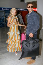 Pixie Lott and Oliver Cheshire at Nice Airport 05/19/2019
