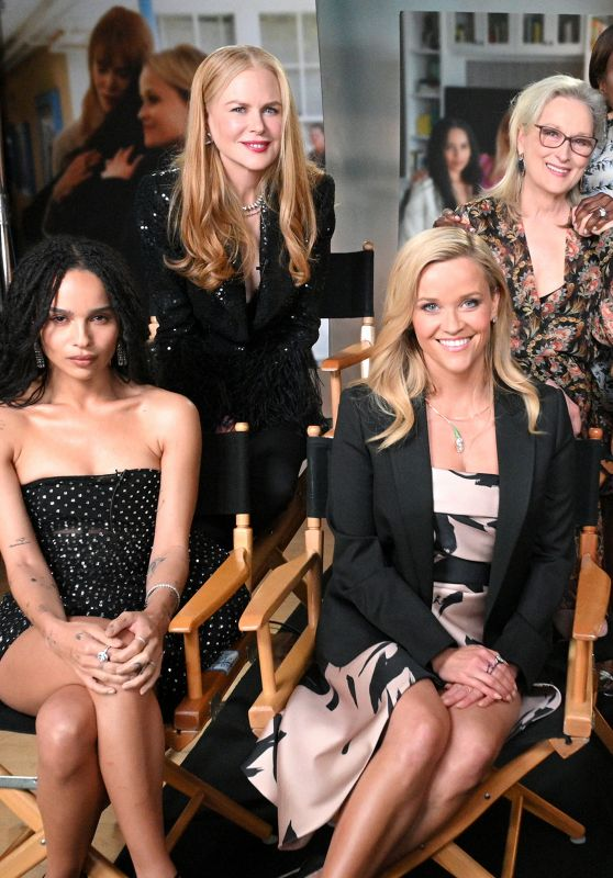 "Reese Witherspoon, Zoe Kravitz, Nicole Kidman, Meryl Streep, Shailene Woodley, Laura Dern - ""Big Little Lies"" Cast at GMA 05/30/2019"