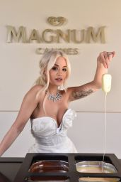 Rita Ora - Plage Magnum at Cannes Film Festival
