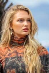 Romee Strijd at the Martinez Hotel in Cannes 05/15/2019