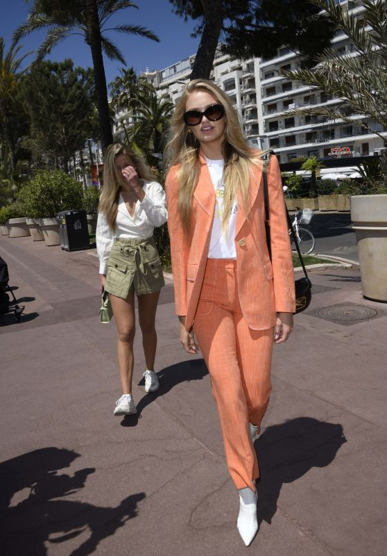 Romee Strijd on the Croisette in Cannes 05/14/2019