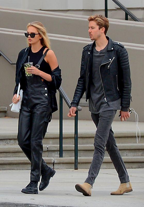 Romee Strijd With Her Boyfriend - Shops in Beverly Hills 05/08/2019