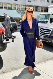 Rosie Huntington-Whiteley in a Blue Jumpsuit - NYC 05/02/2019