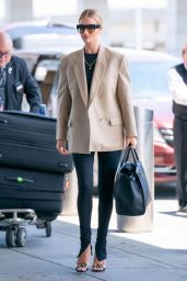 Rosie Huntington-Whiteley in Travel Outfit - JFK Airport in NYC 05/07/2019