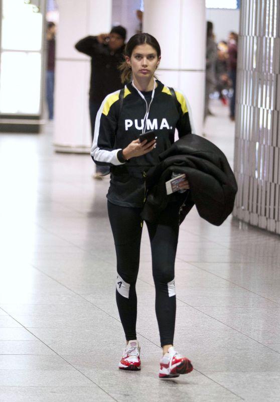 Sara Sampaio in Travel Outfit - Airport in Montreal, April 2019