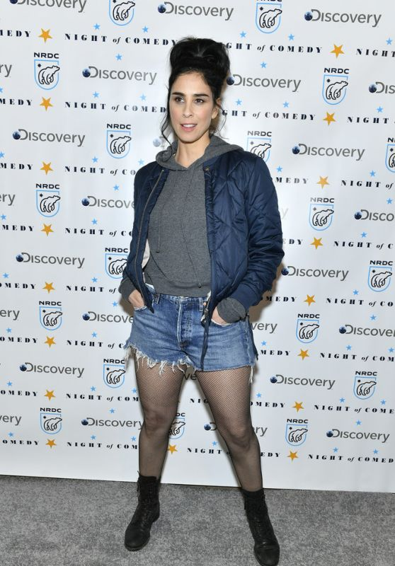 """Sarah Silverman - The NRDC Presents """"Night of Comedy"""" Benefit in NYC"""