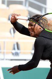 Serena Williams - Practice Prior to the Start of the Roland Garros in Paris 05/22/2019