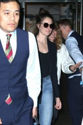 Shailene Woodley in a Blue Blazer and Denim - NYC 05/30/2019