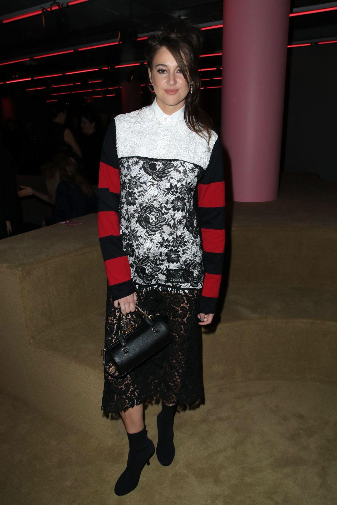 Shailene Woodley Prada Resort 2020 Fashion Show In Nyc