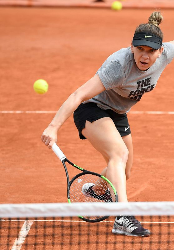 Simona Halep - Practice Prior to the Start of the Roland Garros in Paris 05/22/2019