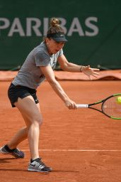 Simona Halep - Practice Prior to the Start of the Roland Garros in Paris 05/22/2019