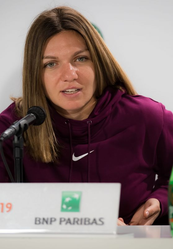 Simona Halep – Talks to the Press Ahead of the Roland Garros in Paris 05/24/2019