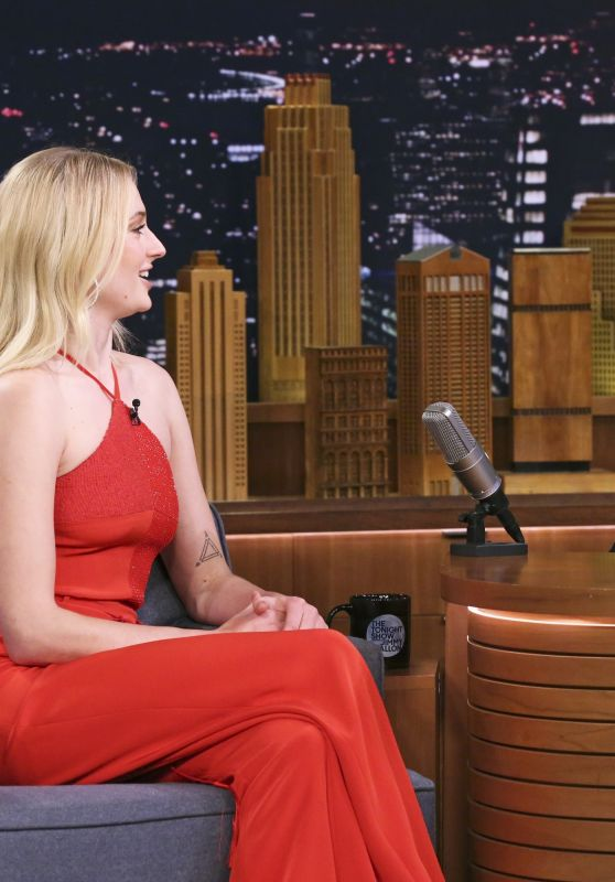 Sophie Turner - Tonight Show Starring Jimmy Fallon in NY 05/11/2019