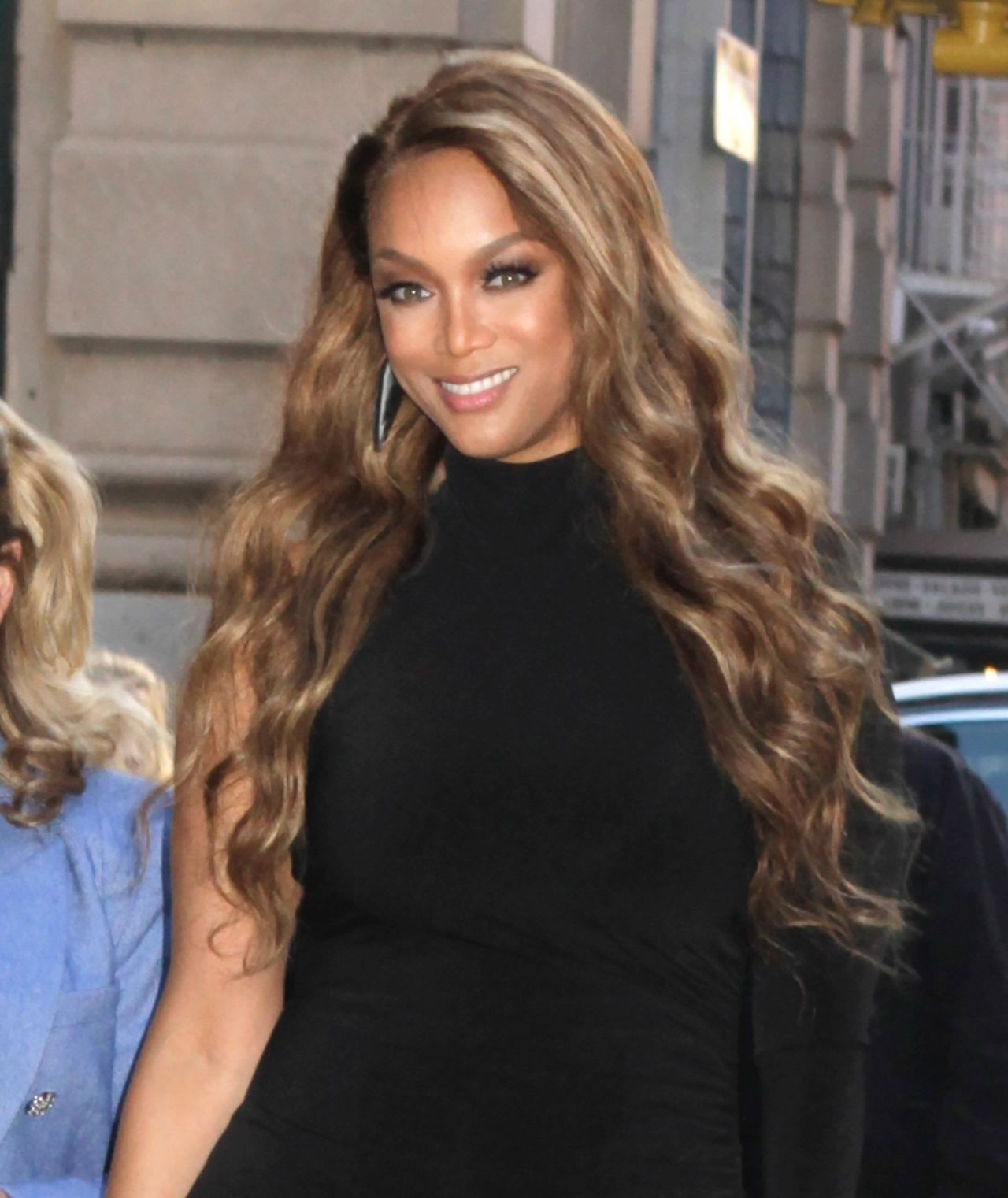 Tyra Banks 2018: Outside BUILD Series In NYC 05/08/2019