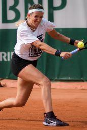 Victoria Azarenka – Practice Prior to the Start of the Roland Garros in Paris 05/22/2019
