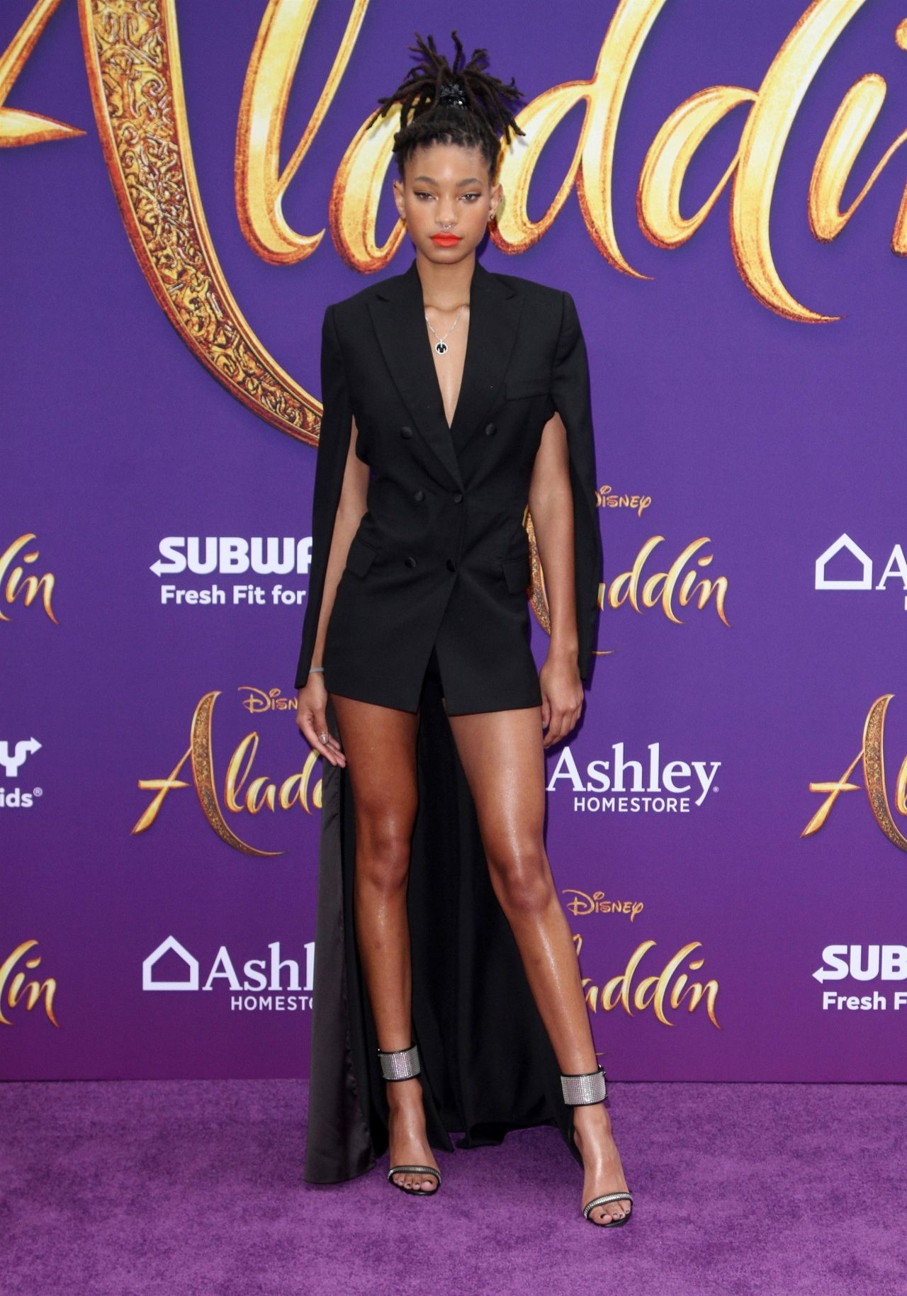 Willow Smith Aladdin Premiere In Hollywood