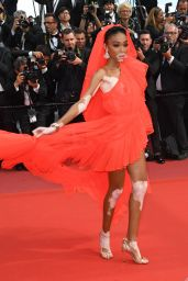 """Winnie Harlow – """"Once Upon a Time in Hollywood"""" Red Carpet at Cannes Film Festival"""