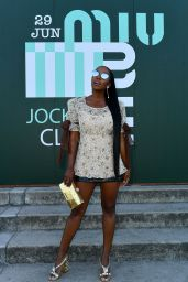 Aja Naomi King – Miu Miu Club Event in Paris 06/29/2019