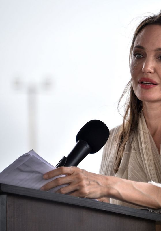 Angelina Jolie - Visits Refugee Camp in Maicao Columbia 06/08/2019