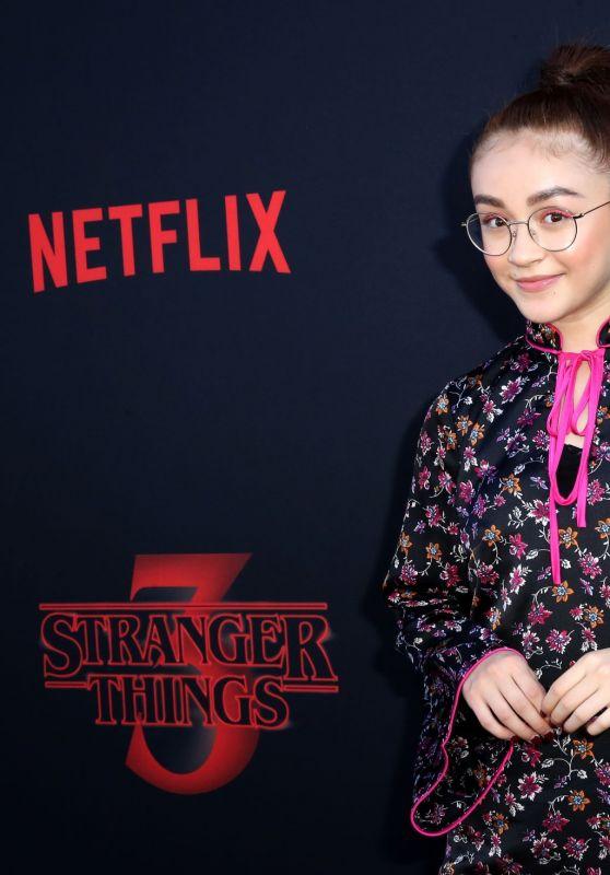 "Anna Cathcart – ""Stranger Things"" Season 3 Premiere in Santa Monica"
