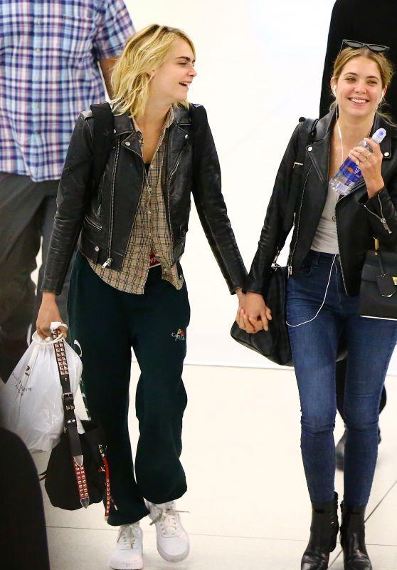 Ashley Benson and Cara Delevingne - JFK Airport in New York City 06/18/2019