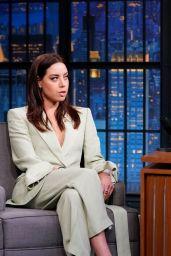 "Aubrey Plaza - ""Late Night With Seth Meyers"" in New York City 06/20/2019"