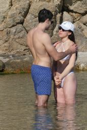 Aurora Ramazzotti in a White Bikini - Mykonos Island 06/07/2019