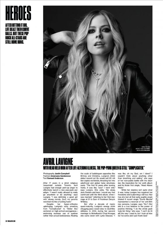 Avril Lavigne - V Magazine Summer 2019 Issue