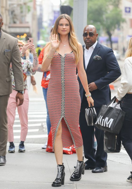 Behati Prinsloo - Outside BUILD Studios in New York City 06/05/2019