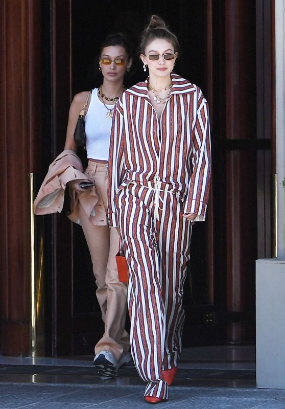 Bella Hadid and Gigi Hadid - Out in Florence, Italy 06/13/2019